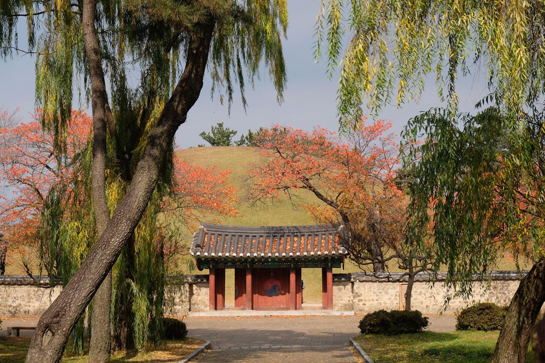 Das UNESCO Welterbe Daerungwon in Gyeongju in Südkorea.
