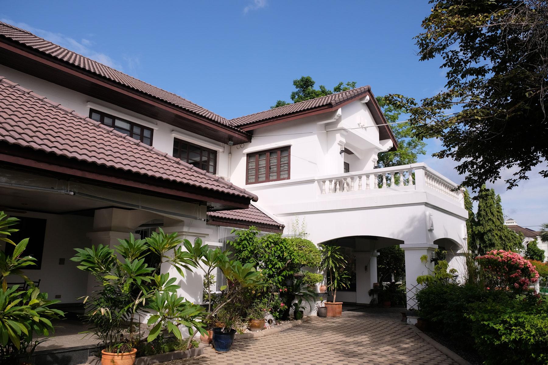 Ein Haus, auf das wir beim House Sitting in Bangkok aufpassen.