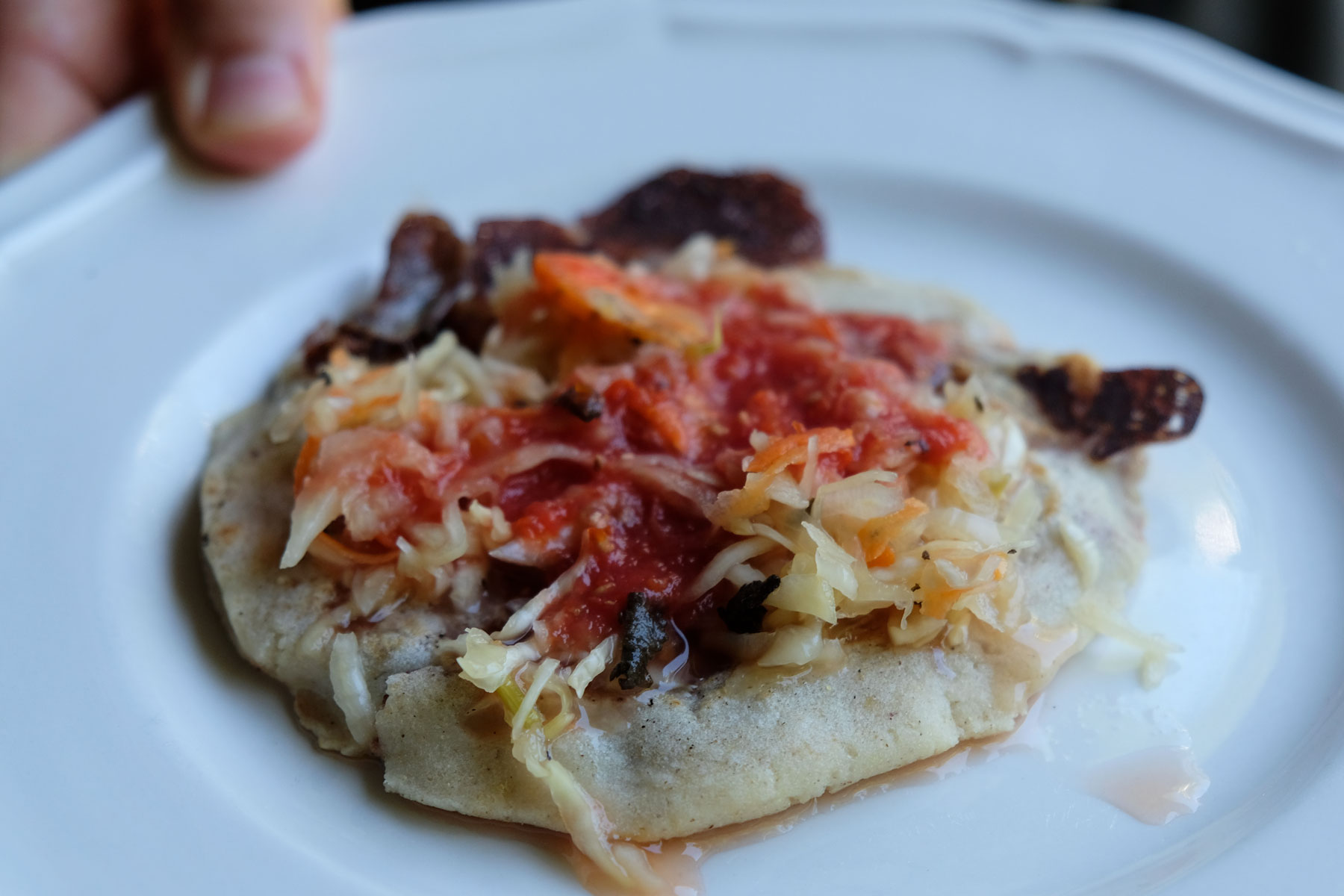 Pupusas sind das Lieblingsessen der Menschen in El Salvador.
