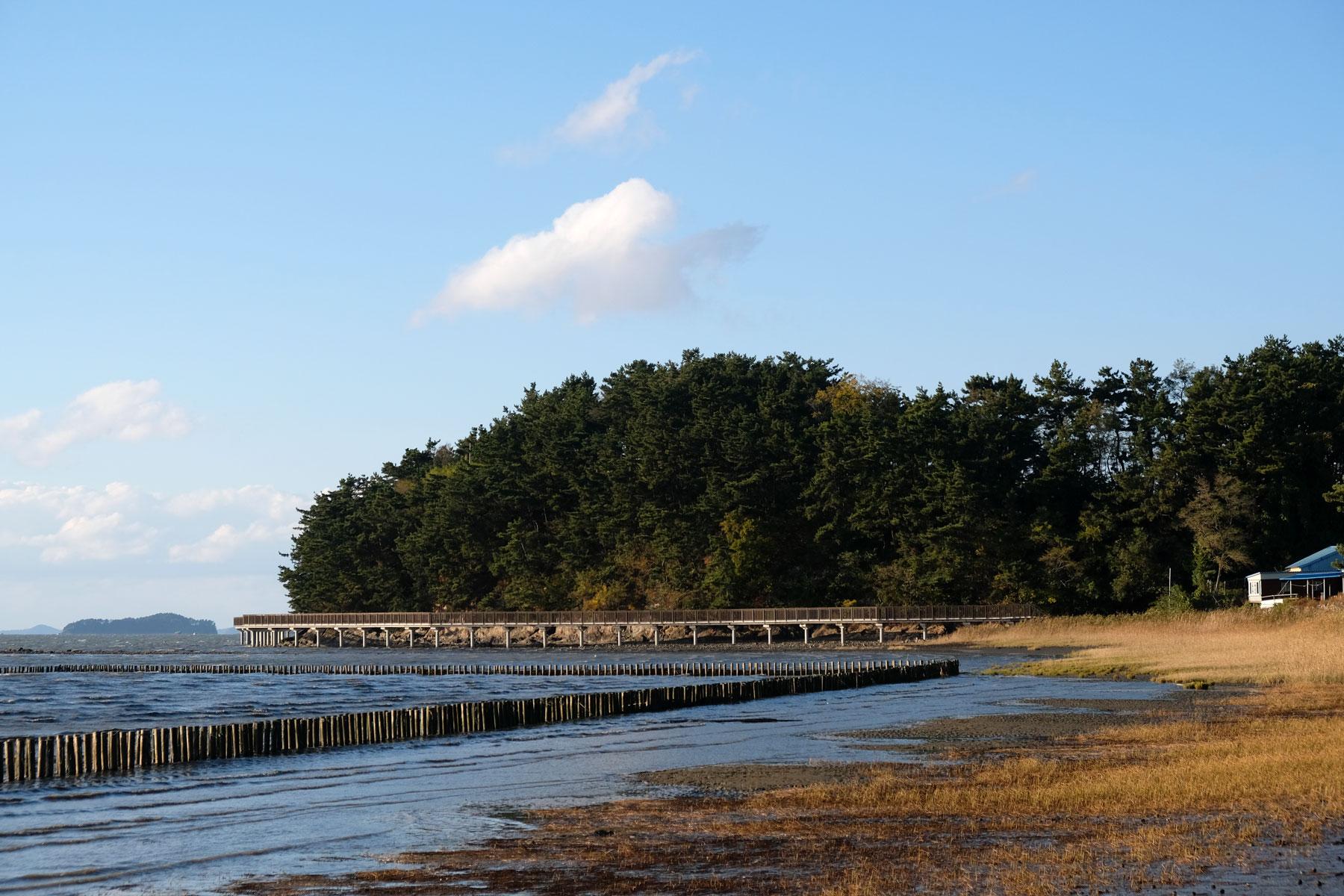 Der Strand von Socheon in Südkorea.