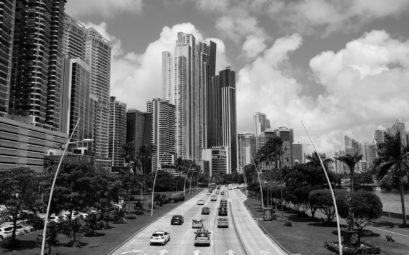 Die Skyline von Panama-Stadt.
