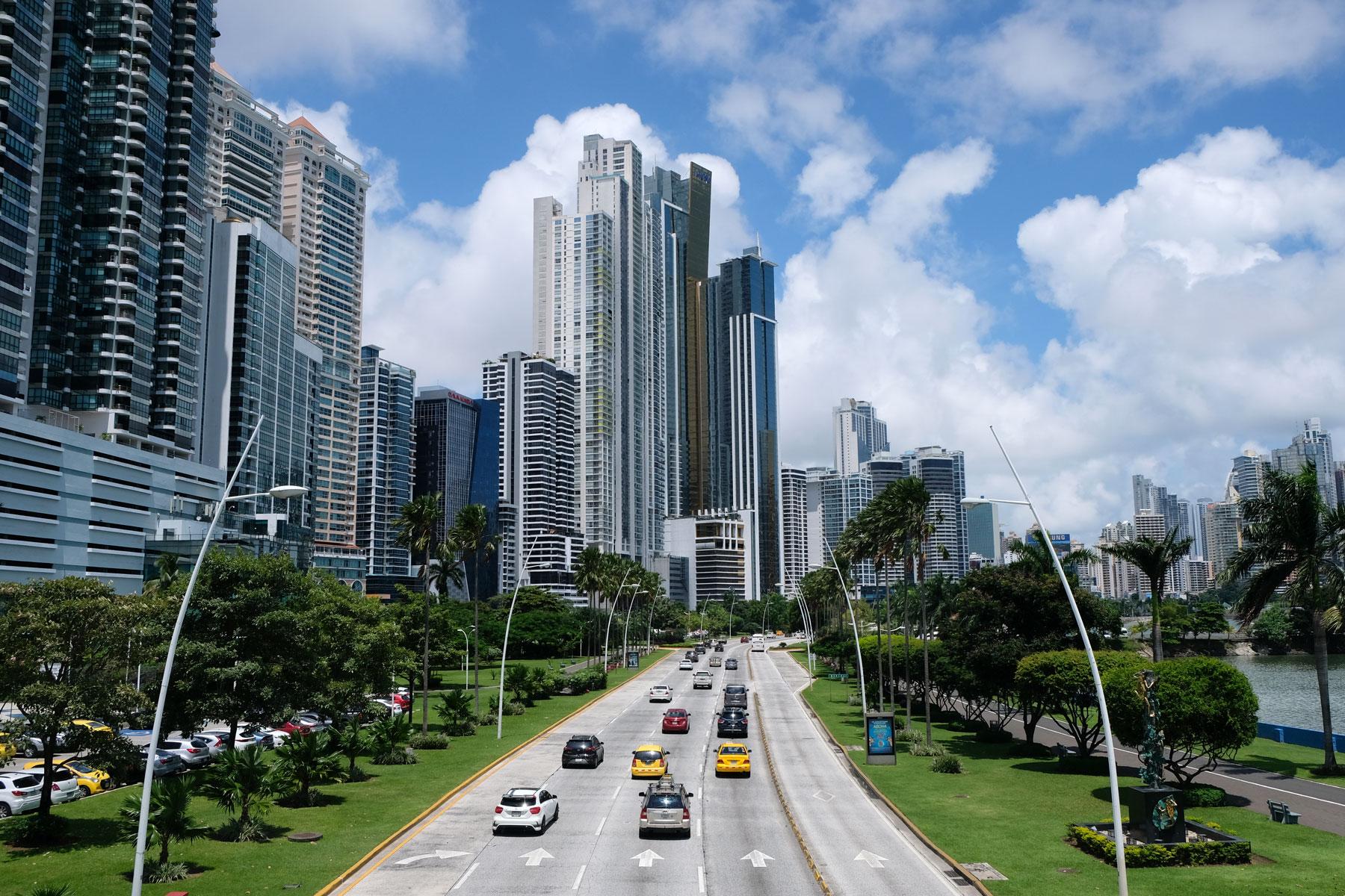 Die Hochhäuser von Panama-Stadt