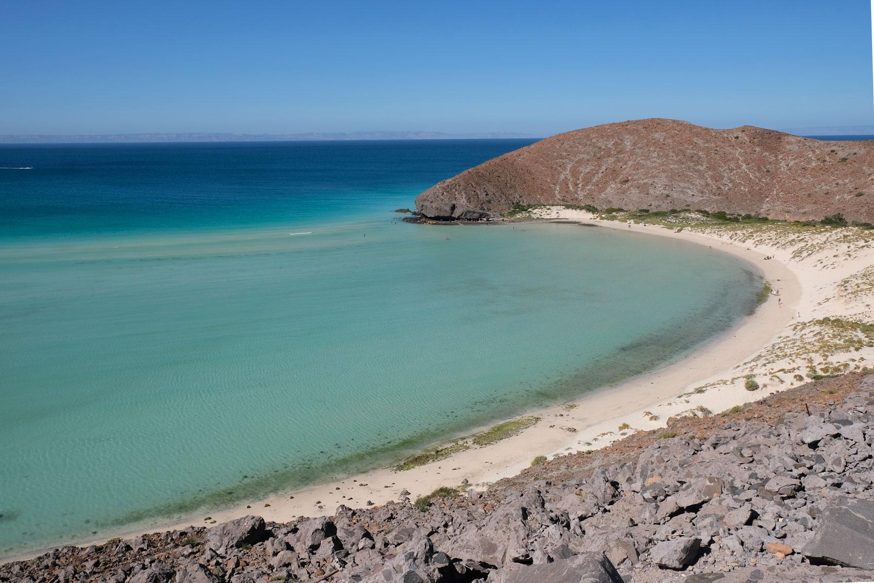 In der Nähe von La Paz in Mexiko befindet sich der Strand Balandra.