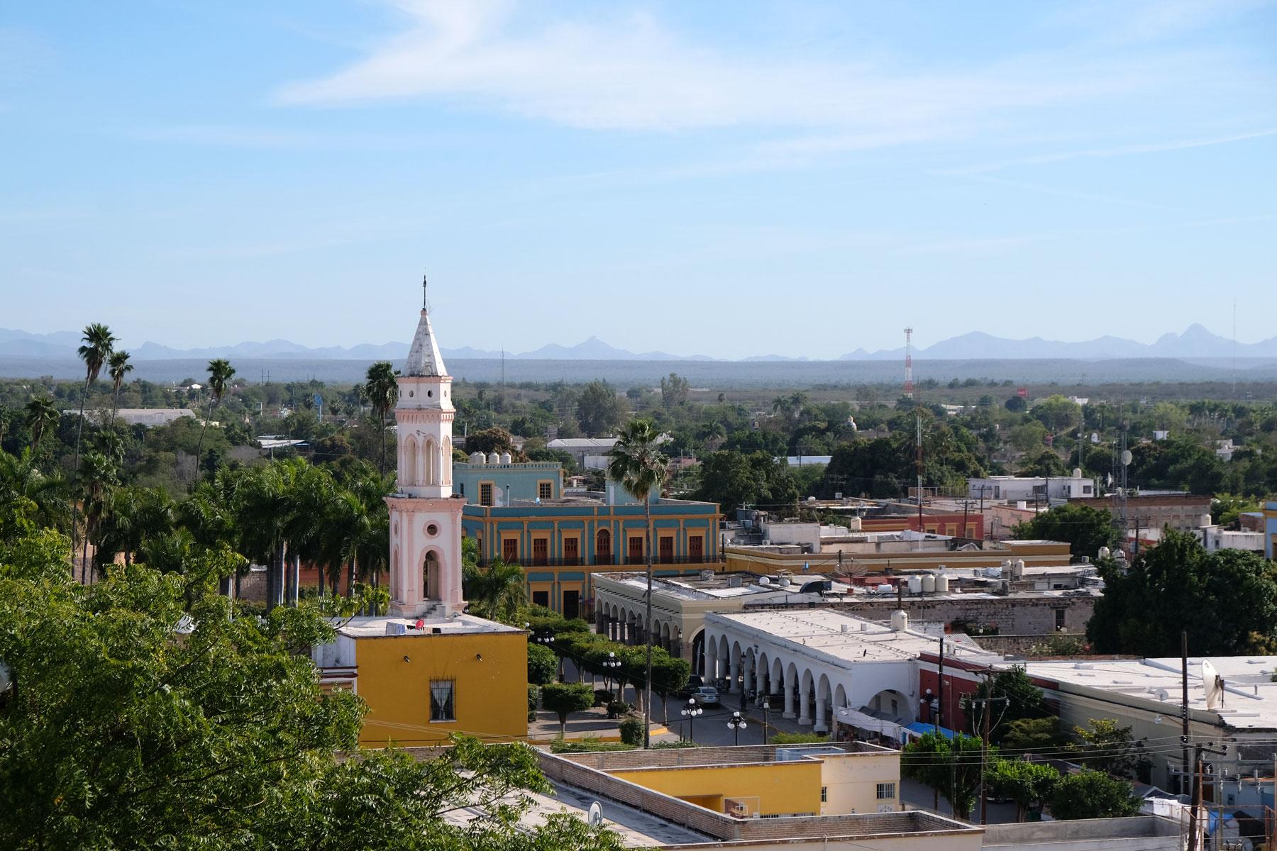 Das pueblo mágico El Fuerte in Mexiko.